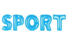 Sport, blaue Farbe Lizenzfreie Stockfotografie
