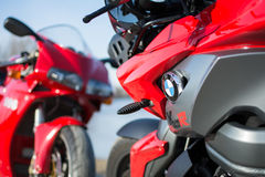 Sport BMW K1300R Motorcycle photographed outdoors Royalty Free Stock Image