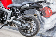 Sport BMW Motorcycle Royalty Free Stock Photos