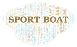Sport Boat word cloud. Wordcloud made with text only vector illustration
