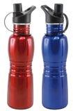 Sport Bottle. Red and blue Sport Bottles stock images