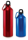 Sport Bottle. Red and blue Sport Bottles Royalty Free Stock Photos