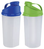 Sport Bottle. Green and blue Sport Bottles royalty free stock photo