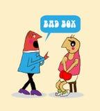 Sport. box. team. Sport box team cartoon funny illustration stock illustration