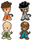 Sport boy and girl character set - collection. Sport boy and girl character set - master collection - manga style - isolated Stock Images