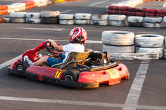 Sport boy kart racing Stock Photo