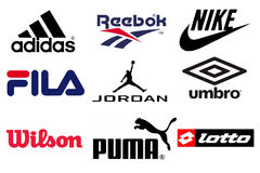 Sport brands Royalty Free Stock Images