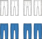 Sport briefs. Vector illustration of men's and women's sport briefs. Front and back views Royalty Free Stock Photo