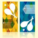 Sport brochure template cards. Tennis background. Royalty Free Stock Photos