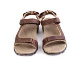 A sport brown sandals. Isolated on the white background Stock Images