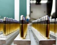 Sport bullets. Rows of sport bullets for biatlon Stock Image