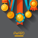 Sport or business background with medal award Stock Photo