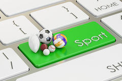 Sport button, key on  keyboard Stock Photos