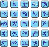 Sport buttons Stock Photography