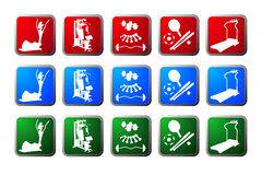 Sport buttons Stock Photos