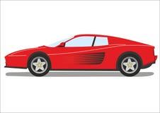 Sport car. A red sport car illustration Stock Photos