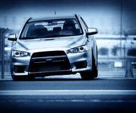 Sport car. Powerful sport car performing at car race championship Royalty Free Stock Image