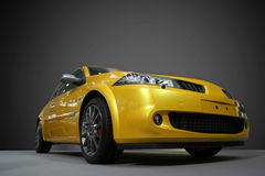 Sport car. Photo of a yellow car Stock Photo