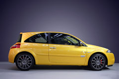 Sport car. Photo of a yellow car Royalty Free Stock Images