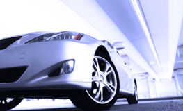 Sport car. Detail of a beauty and fast sport car Royalty Free Stock Images