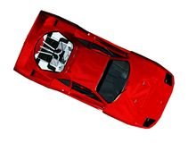 Sport car. Scene of the red sport car. It Is Executed in 3 D Stock Photo