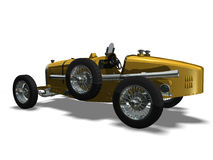 Sport car. Computer image 3D, old automobile white background Stock Photos