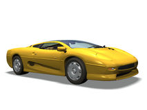 Sport car. Computer image 3D, sport car white background Stock Photography