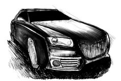 Sport car royalty free illustration
