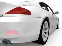 Sport car. On a white background royalty free stock photo
