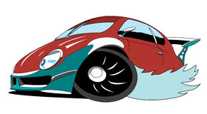 Sport car. The cartoon red sport car Stock Photo
