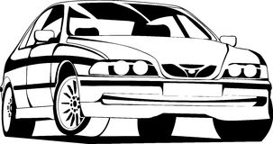 The sport car. Vector illustration of the modern car in black-and-white execution Stock Image