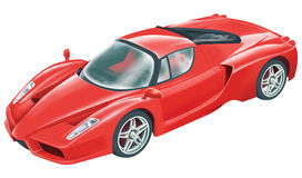 Sport car. Isolated image of a bright red racing car Royalty Free Stock Photo