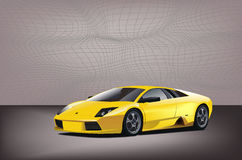 Sport car. In this graphic illustartion Royalty Free Stock Images