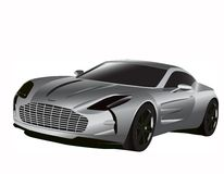 Sport car. Realistic illustration of sport car stock illustration