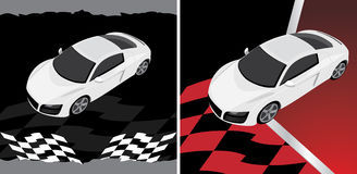 Sport car on the abstract background Stock Photos