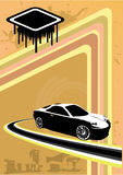 Sport car abstract design Stock Photography