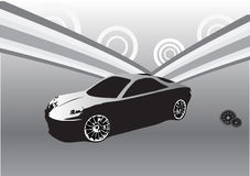 Sport car abstract design Royalty Free Stock Photography