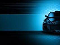 Sport car background Royalty Free Stock Image