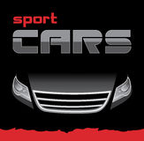 Sport car. Background for card. Illustration Royalty Free Stock Image