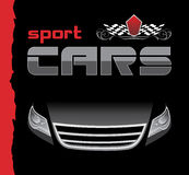 Sport car. Background for design Stock Image