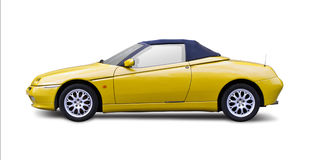 Sport car. Cabrio sport car isolated in white Stock Photo