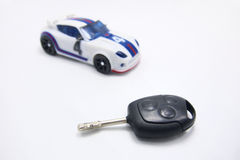 Sport Car And Car key Stock Photos