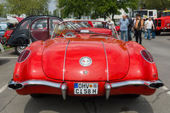 Sport car Chevrolet Corvette (C1), rear view Royalty Free Stock Photo