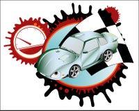 Sport car. Collage. Vector illustration Stock Photo