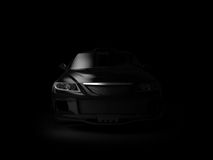 Sport car in dark Royalty Free Stock Image