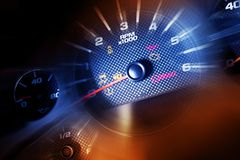 Sport Car Dash Dials Stock Photo