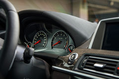 Sport car dashboard Stock Images
