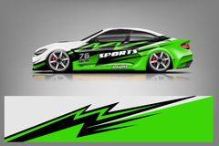 Free Sport Car Decal Wrap Design Vector. Graphic Abstract Stripe Racing Background Kit Designs For Vehicle Royalty Free Stock Photo - 148054045