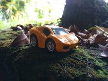 Sport car die-cast. Outdoor stock photo