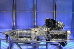 Sport Car Engine. At a close look in Brisbane Motor Show, Australia Stock Image